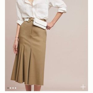 Anthro Caara military skirt, sz medium, NWT